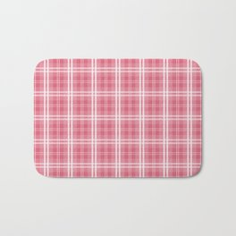 Faded and Shaded Nanucket Red and White Tartan Plaid Check Bath Mat