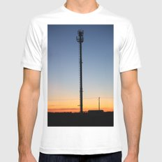 Tower in the Sky Mens Fitted Tee White MEDIUM