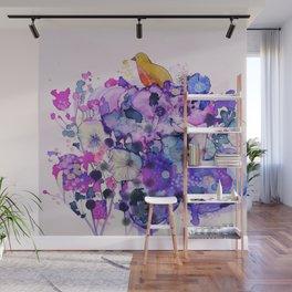purple peace Wall Mural