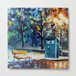 TARDIS STARRY NIGHT Metal Print
