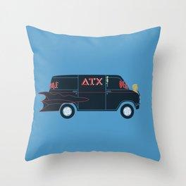 Deathmobile Van Throw Pillow