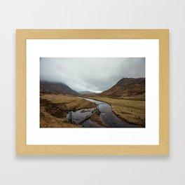 Broken Bridge Valley Mist Framed Art Print