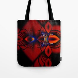 Ruby Abstract Stained Glass Window Tote Bag