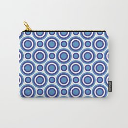 Circle Circle: Small: Turquoise, White + Navy Carry-All Pouch