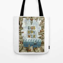 Dubrovnik Croatia - digital illustration Tote Bag