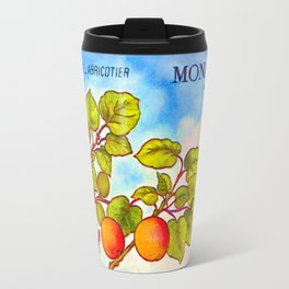 Branch of an Apricot tree in Summer Travel Mug