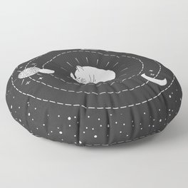 The Space Cat Floor Pillow