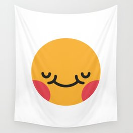 Emojis: Blush Wall Tapestry