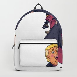 Funny ventriloquist dummy Backpack