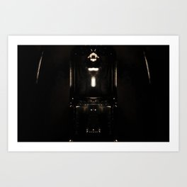 it's not totally dark Art Print
