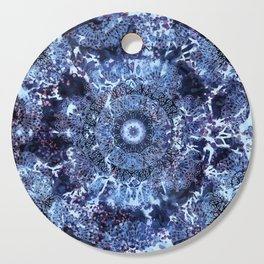 Iris Mandala Blue Cutting Board