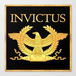 Invictus Eagle on Black Canvas Print