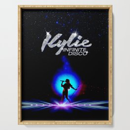Kylie Disco Ball - say something lovers magic music pop  Serving Tray