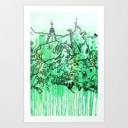 BATTLE ROYALE UNDERWATER Art Print