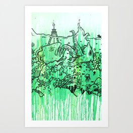 BATTLE ROYALE UNDERWATER Art Print