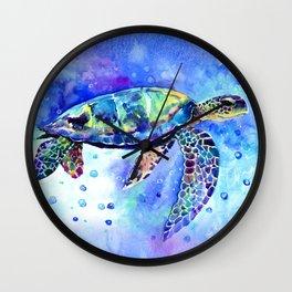 Sea Turtle, Underwater Scene Wall Clock