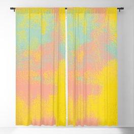 Pink Yellow Light Teal Blackout Curtain