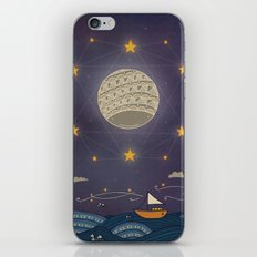 Sailing under the moon iPhone & iPod Skin