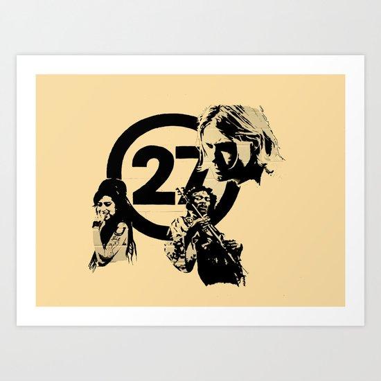27 club Art Print