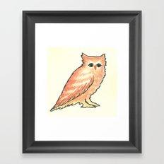 Fade in Owl Framed Art Print