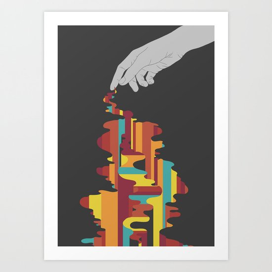 Colourbleed Art Print