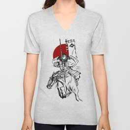 The Samurai's Charge Unisex V-Neck