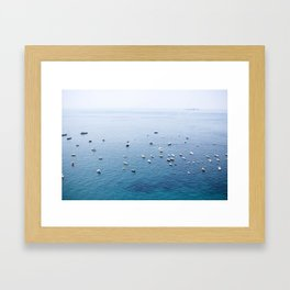 The Waters of Postiano, Italy Framed Art Print