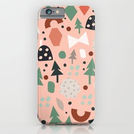 Holiday Forest Pink iPhone Case