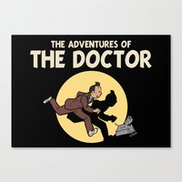tintin Canvas Prints featuring The Adventures Of The Doctor by Deborah Picher Illustrations