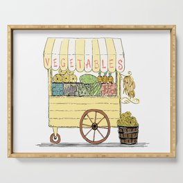 Vegetable Cart Serving Tray