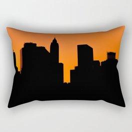 Lower Manhattan Silhouette Rectangular Pillow