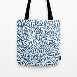 William Morris Navy Blue Botanical Pattern 9 Tote Bag