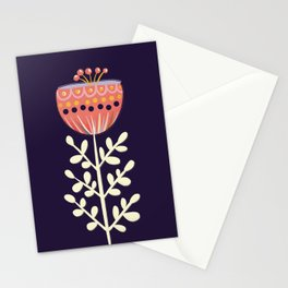 single flower no1 Stationery Cards