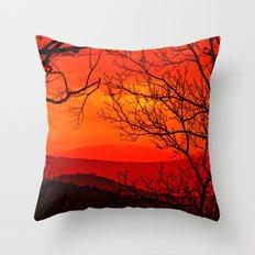 Orange range Throw Pillow
