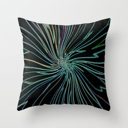 Re-Created Night Blossom No. 2 by Robert S. Lee Throw Pillow