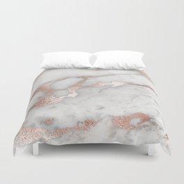 Rose Gold Marble Duvet Cover