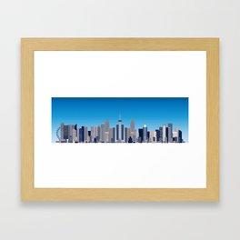 Future Cityscape 001 Framed Art Print