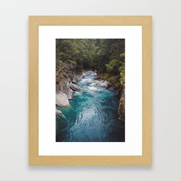 Blue Pools Framed Art Print