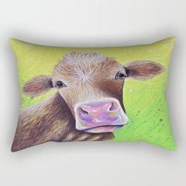 Jersey Cow Painting Rectangular Pillow