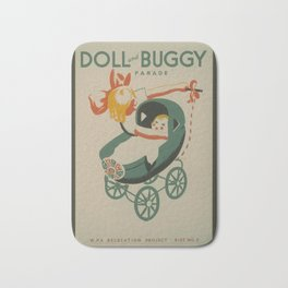 Vintage American WPA Poster - Doll and Buggy Parade (1939) Bath Mat