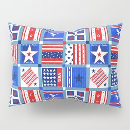 4th July Patchwork Pillow Sham