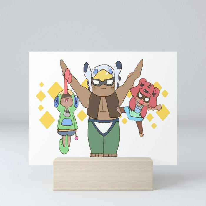 Leon Nita And Bo Cute Design Brawl Stars Mini Art Print By Zarcus11