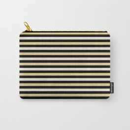 Black and Gold Stripes Carry-All Pouch