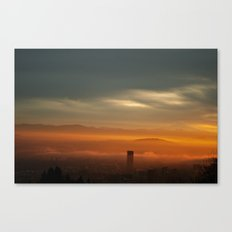 Sunrise: Orange Flood Canvas Print
