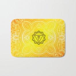 Solar Plexus Chakra Mandala Bath Mat