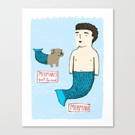 Merman's Best Friend Canvas Print