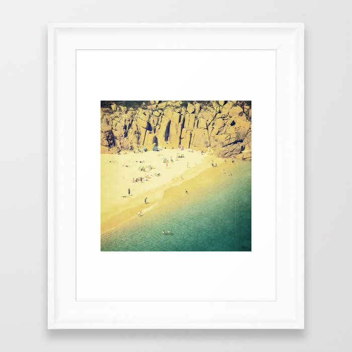 Vintage Beach Framed Art Print