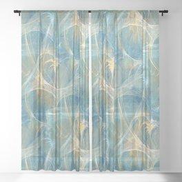 Whisper 3D Abstract Fractal Sheer Curtain