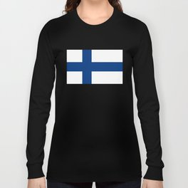 Flag of Finland - High Quality Image Long Sleeve T-shirt