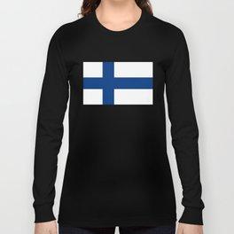 Flag of Finland Finnish Flag Long Sleeve T-shirt